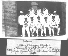 Australian Team to take on England - 1928